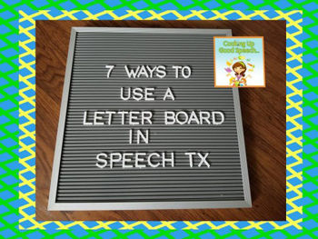 High School Speech Therapy Activities - Brought to you by Cooking Up Good Speech