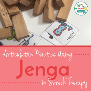 Jenga game for Speech Therapy