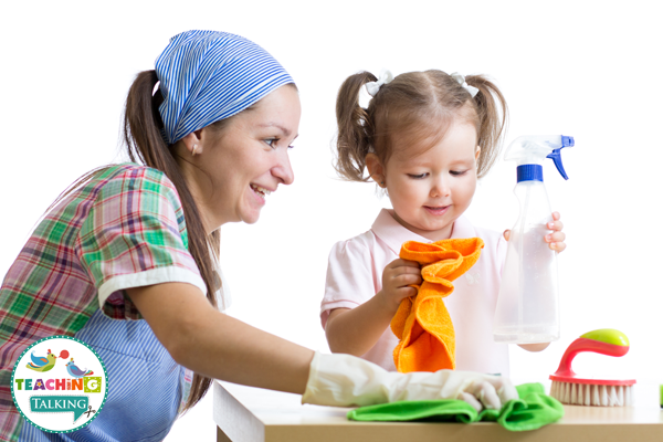 Language Activities while you clean