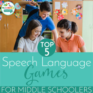 Speech Therapy Games for Middle School