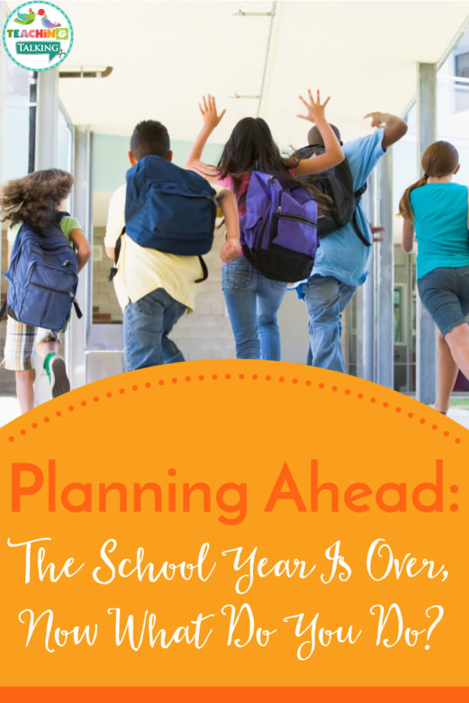 End of Year Speech Therapy - Planning Ahead