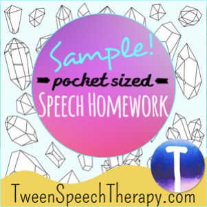 Middle School Speech Therapy Activities - Brought to you by Tween Speech Therapy