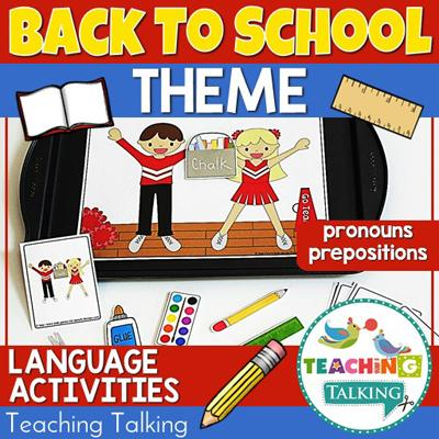 Teaching Talking Back to School Preschool Language Activities for Speech Therapy