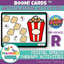 Load image into Gallery viewer, Teaching Talking BOOM Cards BOOM Cards - Articulation Activities for Pre Vocalic /R/