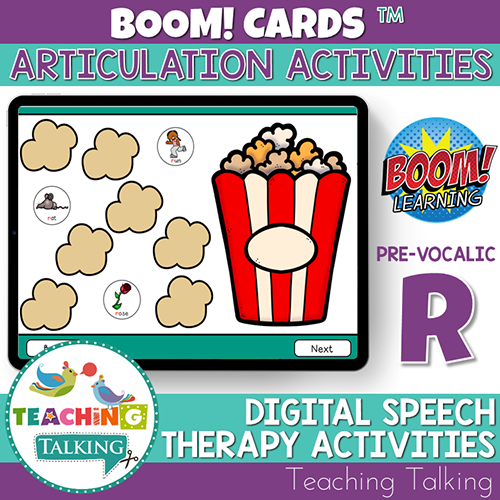 Teaching Talking BOOM Cards BOOM Cards - Articulation Activities for Pre Vocalic /R/
