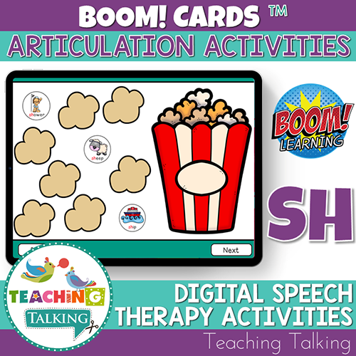Teaching Talking BOOM Cards BOOM Cards - Articulation Activities for /SH/