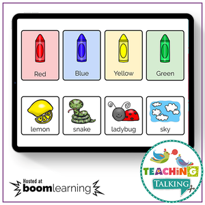 Teaching Talking BOOM Cards BOOM Cards - Sorting Early Nouns by Color