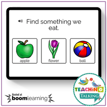 Load image into Gallery viewer, Teaching Talking BOOM Cards BOOM Cards - Understanding Early Nouns by Function