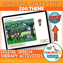 Load image into Gallery viewer, Teaching Talking BOOM Cards BOOM Cards - Zoo Theme Apraxia Activities