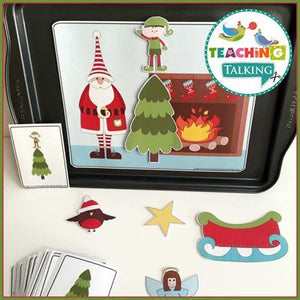 Teaching Talking Christmas Preschool Language Activities for Speech Therapy