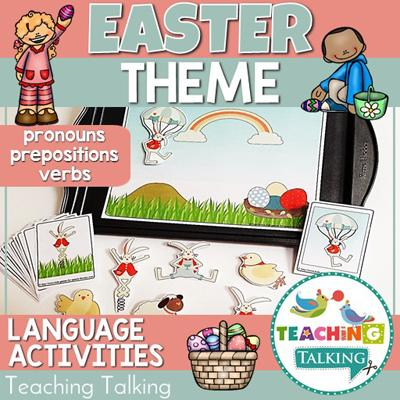Teaching Talking Easter Preschool Language Activities for Speech Therapy
