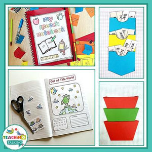 Teaching Talking Printable Articulation and Language Bundles for Interactive Notebooks