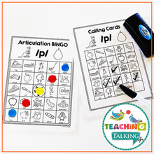 Load image into Gallery viewer, Teaching Talking Printable Articulation BINGO for SH, CH, J, TH
