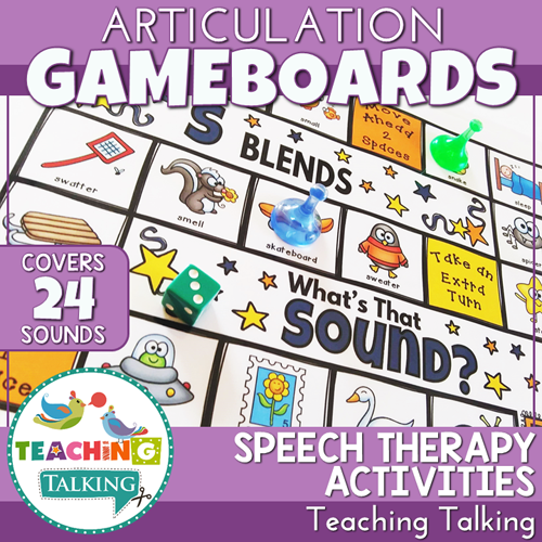 Teaching Talking Printable Articulation Games for Speech Therapy