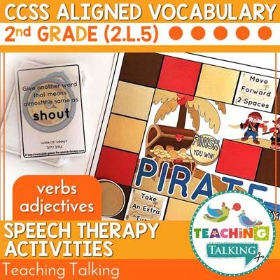 Teaching Talking Printable CCSS Aligned Vocabulary for Second Grade - Pirate Theme