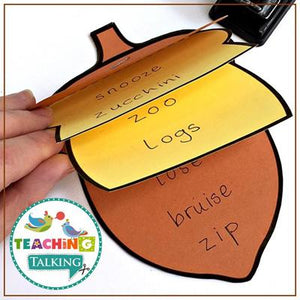 Teaching Talking Printable Fall Articulation Activities for Notebooks