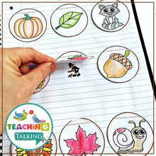 Load image into Gallery viewer, Teaching Talking Printable Fall Articulation Activities for Notebooks