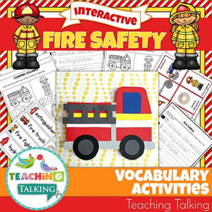 Teaching Talking Printable Fire Safety Vocabulary Activities