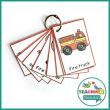 Load image into Gallery viewer, Teaching Talking Printable Fire Safety Vocabulary Activities