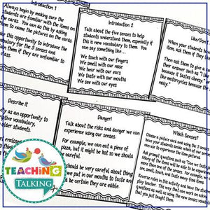 Teaching Talking Printable Five Senses Activities