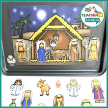 Load image into Gallery viewer, Teaching Talking Printable Nativity Vocabulary Activities