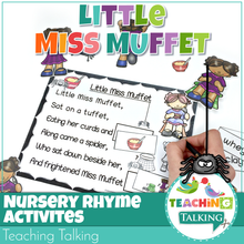 Load image into Gallery viewer, Teaching Talking Printable Nursery Rhyme Activities for Little Miss Muffett