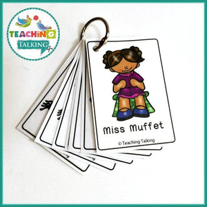 Teaching Talking Printable Nursery Rhyme Activities for Little Miss Muffett