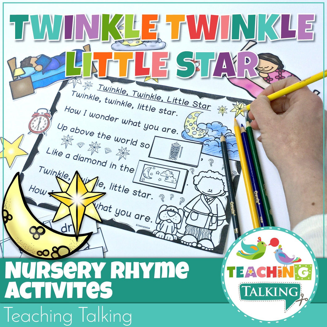 Teaching Talking Printable Nursery Rhyme Activities for Twinkle Twinkle Little Star