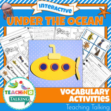 Load image into Gallery viewer, Teaching Talking Printable Ocean Vocabulary Activities