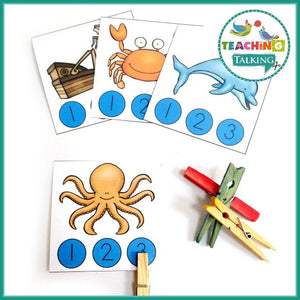 Teaching Talking Printable Ocean Vocabulary Activities