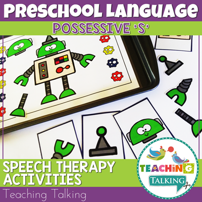 Teaching Talking Printable Possessive S Speech Therapy Activities for Preschool