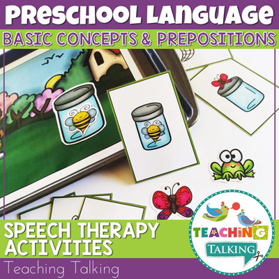 Teaching Talking Printable Prepositions Speech Therapy Activities for Preschool