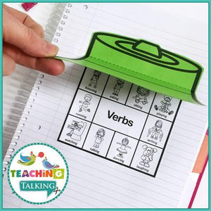 Teaching Talking Printable Preschool Notebooks for Speech and Language Therapy