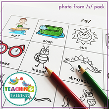 Load image into Gallery viewer, Teaching Talking Printable Print and Go Articulation Activities for Blends S, L, R