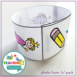 Teaching Talking Printable Print and Go Articulation Activities for K, G, F, V