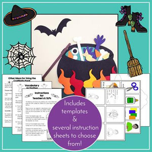 Teaching Talking Printable Print & Go Language Activity Worksheets for Halloween