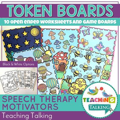 Teaching Talking Printable Progress Monitoring Sticker Sheets and Games