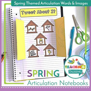 Teaching Talking Printable Spring Articulation Activities for Notebooks
