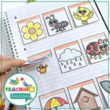 Load image into Gallery viewer, Teaching Talking Printable Spring Articulation Activities for Notebooks