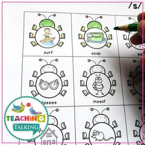 Teaching Talking Printable Value Bundle Print and Go Articulation Activities for Seasons