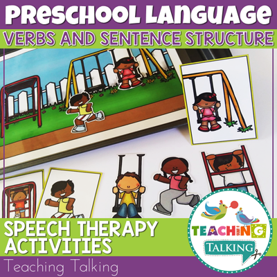 Teaching Talking Printable Verbs Speech Therapy Activities for Preschool