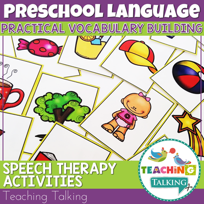 Teaching Talking Printable Vocabulary Speech Therapy Activities for Preschool