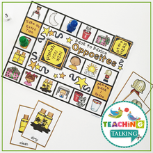 Load image into Gallery viewer, Teaching Talking Printable Worksheets, Game and Cards for Antonyms