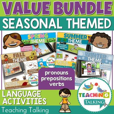 Teaching Talking Seasons Value Bundle Preschool Language Activities for Speech Therapy