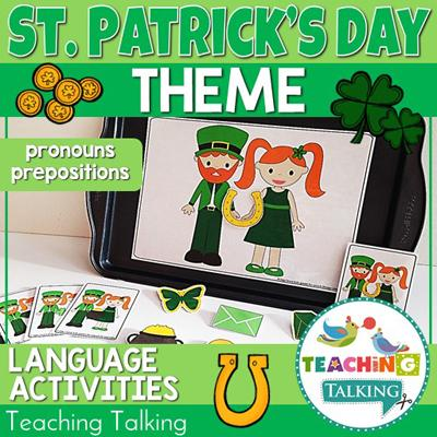 Teaching Talking St. Patrick's Day Preschool Language Activities for Speech Therapy