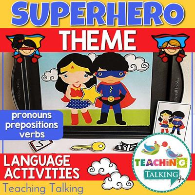 Teaching Talking Superhero Preschool Language Activities for Speech Therapy
