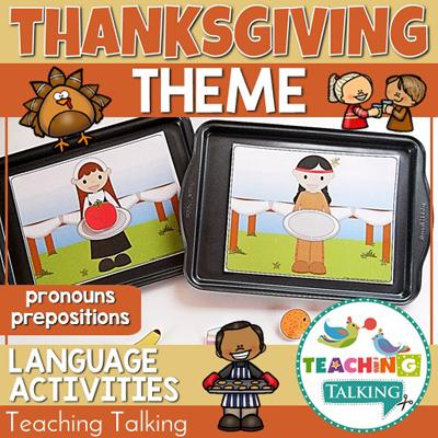 Teaching Talking Thanksgiving Preschool Language Activities for Speech Therapy