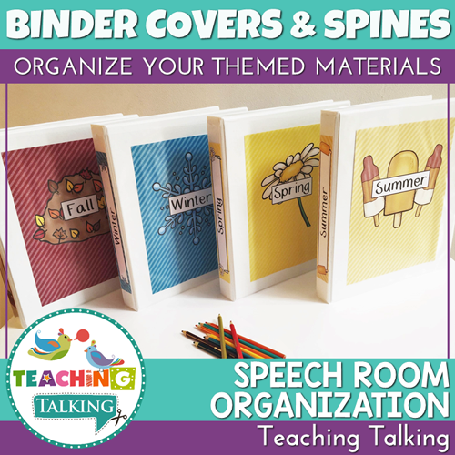 Teaching Talking Themed Binder Spines and Covers