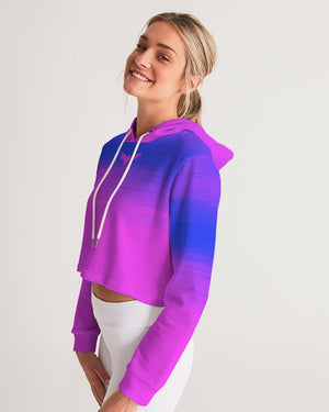 Women's Summer Eclipse Cropped Long Sleeve Hoodie