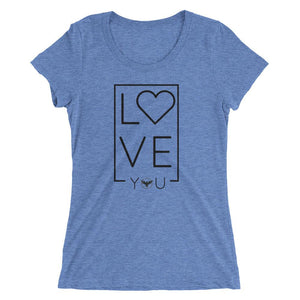 Women's LOVE Blue Crewneck Triblend Tee
